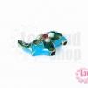 ลูกปัดกังไส ช้าง สีฟ้า 19X17มิล(1ชิ้น)