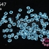 คริสตัลสวารอฟสกี้ (SWAROVSKI) สีฟ้าครามอ่อนใส(202) 3มิล(100เม็ด)
