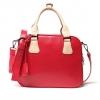 พร้อมส่ง กระเป๋าแฟชั่น HowRU สีแดง สามารถตั้งได้ ใบกลาง แถมสายยาวให้ รูปทรงน่ารัก สีสันสดใส สวยค่ะ