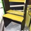 """โต๊ะต่างระดับ 3 ชั้น """"เมลามีน"""" สี : ทอปเหลือง - ขาดำ"""