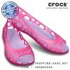 W7 (24 cm.) : Women's Crocs Adrina Flat - Candy Pink / Iris ของแท้ Outlet ไทยและอเมริกา