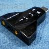 USB Sound Adapter ระบบเสียง 7.1 ลำโพง+ไมค์ 2 ชุด