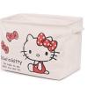 พร้อมส่ง :: ตะกร้าผ้าดิบพับได้ ทรงสี่เหลี่ยม Hello kitty