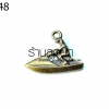 จี้ทองเหลือง รูปคนขับแจสกี (1ชิ้น)