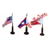 เสาธงไม้ตั้งโต๊ะเสาเี่ดี่ยว+ธงอาเซียน