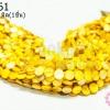 เปลือกหอย กลมแบน สีเหลือง 12มิล (1เส้น)
