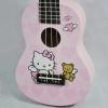 อูคูเลเล่ Ukulele KAKA รุ่น KUS-120 ลายการ์ตูน Hello Kitty สีชมพู ไม้ Linden สาย White ฟรีกระเป๋า