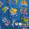 คอตตอนลินินญี่ปุ่น ลาย Pokemon ต่างๆ เหมาะสำหรับชิ้นงานให้ เด็กผู้ชายค่ะ สีน้ำเงิน