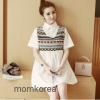 เสื้อคลุมท้องแฟชั่นเกาหลี โทนสีขาว