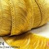 พู่ไหมเทียม เส้นยาว สีทอง กว้าง 8 ซม.(1หลา/90ซม)