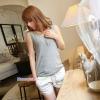 เสื้อคลุมท้องแขนกุด มีกระดุมปรับขนาด : สีเทา รหัส SH162