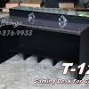 "T-121 โต๊ะคอมต่างระดับ ""เมลามีน"" 120 ซม. (กาไฟว์-ดำเคฟล่า)"