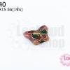 ลูกปัดกังไส ผีเสื้อ สีโอรส 10X15มิล(1ชิ้น)