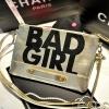 กระเป๋าแฟชั่น BAD GIRL สีทอง หนัง PU ใส่ IPAD ได้ มีสายสะพาย ((โปรโมชั่นส่งฟรี))