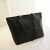 (หมดจ้า) กระเป๋าแฟชั่น สีดำ สะพายไหล่ มีซิปเปิดปิด เรียบหรู ((โปรโมชั่นส่งฟรี))