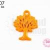 จี้โรเดียม ต้นไม้ สีส้ม 27 มิล (1ชิ้น)