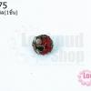 ลูกปัดกังไส กลม สีแดง 8มิล(1ชิ้น)