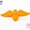 จี้โรเดียม หัวใจมีปีก สีส้ม 25 มิล (1ชิ้น)