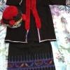 ชุดเด็กหญิงชาวเขากระโปรง มี เสื้อ,กระโปรง,หมวก