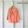เสื้อคลุมแขนยาว สีส้มโอรส