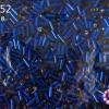 ลูกปัดจีน ปล้องยาว สีน้ำเงิน 2X7มิล(1ถุง/450กรัม)