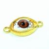 จี้รูปตาสีทองนัยตาสีแดง ตัวละ 15 บาท ขนาด 15 มิล ยาว 30 มิล
