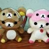 ตุ๊กตาน้องหมี Rilakkuma และ Korilakkuma ผ้าปิดตา (ราคาต่อคู่คะ)