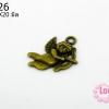 จี้โรเดียม สีทองเหลือง ลายคิวปิด ขนาด ความกว้าง 18 มิล x ยาว 20 มิล