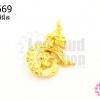 เข็มกลัดเลข ๙ ลายไทย สีทอง 31X44มิล(1ชิ้น)