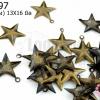 จี้ทองเหลือง ดาว (บาง) 13X16 มิล(1ขีด)
