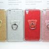 เคส Huawei Y6II เคสขอบนิ่มหลังแข็ง กากเพชร+แหวน