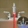 ข้อต่อก๊อกน้ำเรืองแสง ไฟ LED บอกอุณหภูมิน้ำ