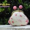 กระเป๋าปิ้กแป้กขนาด 7 cm มีด้านข้าง ผ้าญี่ปุ่น ควิลล์มือ สำหรับใส่เหรียญ ของจุกจิก (สินค้าฝากขาย ไม่บวกเพิ่ม )