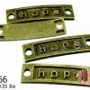 จี้ป้าย Hope ทองเหลือง 10x35 mm.(1ชิ้น)