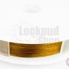 ลวดสลิงสำหรับร้อยมุก สีทองเหลือง เบอร์30(1ม้วน)