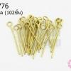 ตะปูเลข9หรืออายพิน สีทองเหลือง 3X19มิล (20 กรัม)