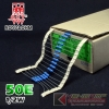 50E 1/2W 1% Metalfilm (100pcs)