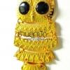 จี้รูปนกฮูกสีทอง 40X85 มิล (1ชิ้น)