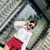 กางเกงขาสั้น สไตล์เกาหลี สีแดง