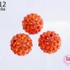 บอลเพชร เกรดดี 12 มิล สีส้มแดง (1ชิ้น)