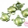 จี้กาน้ำชา ทองเหลือง ขนาด 20 x 22 mm.