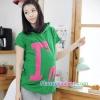 เสื้อพร้อมกางเกงคลุมท้อง สกีนลายไอแอม : สีเขียว รหัส SH038