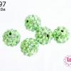บอลเพชร เกรดดี 10 มิล สีเขียวอ่อน (1ชิ้น)