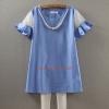 K2302 เสื้อคลุมท้อง โทนสีฟ้าผ้าเนื้อดี แขนแต่งด้วยผ้าแก้วอย่างดี ผ้านิ่มใส่สบายค่ะ สินค้าเหมือนแบบค่ะ (ไม่รวมสร้อยคอ)