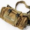 กระเป๋าจักรยาน กระเป๋าคาดเอว สะพายได้หลายแบบ : สีทราย
