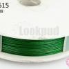 ลวดสลิงสำหรับร้อยลูกปัดจีน สีเขียว เบอร์38 (1ม้วน)