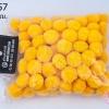 ปอมปอมไหมพรม สีเหลือง 3ซม. (100 ลูก)