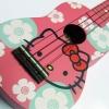 """อูคูเลเลเล่ Ukulele รุ่นHello Kitty Pink Soprano 21"""" Maple สาย GHS ฟรีกระเป๋า"""
