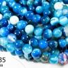 หินอาเกตดวงตา สีฟ้า 8 มิล (จีน) (1เส้น)