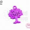 จี้โรเดียม ต้นไม้ สีม่วงเข้ม 27 มิล (1ชิ้น)